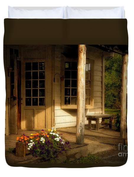 The Old General Store Duvet Cover by Lois Bryan