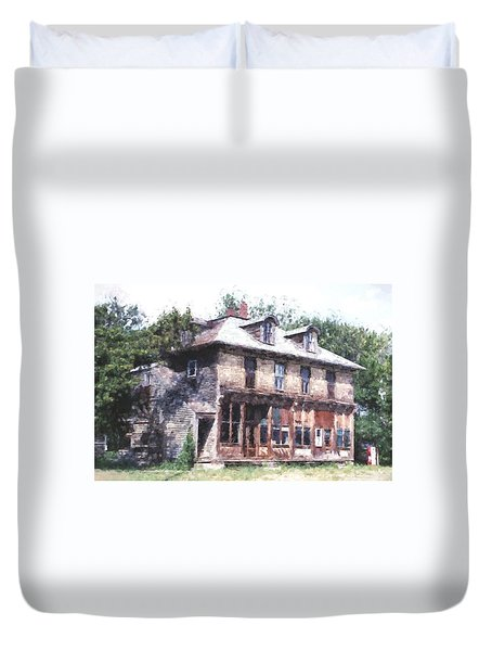 Duvet Cover featuring the photograph The Old General Store by Susan Crossman Buscho