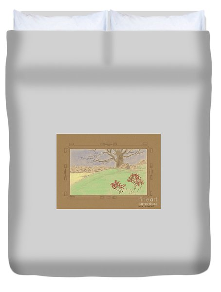 The Old Gully Tree Duvet Cover