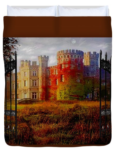 The Old Haunted Castle Duvet Cover by Michael Rucker