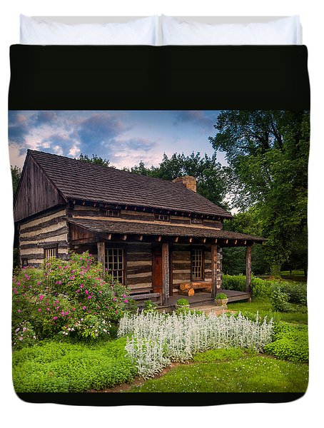 The Old Log Home  Duvet Cover by Emmanuel Panagiotakis