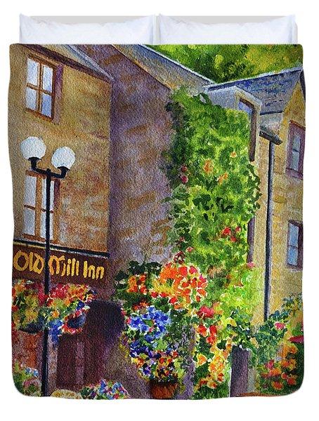 The Old Mill Inn Duvet Cover