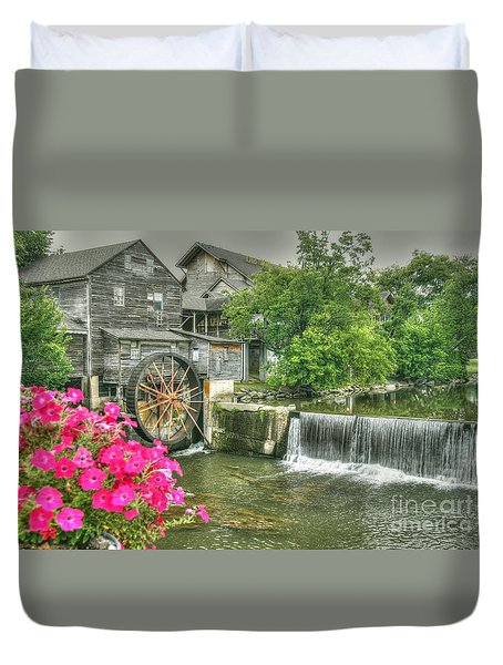 The Old Mill Duvet Cover by Myrna Bradshaw