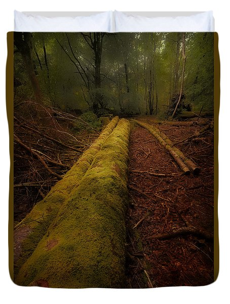 The Old Mossy Trunk Duvet Cover