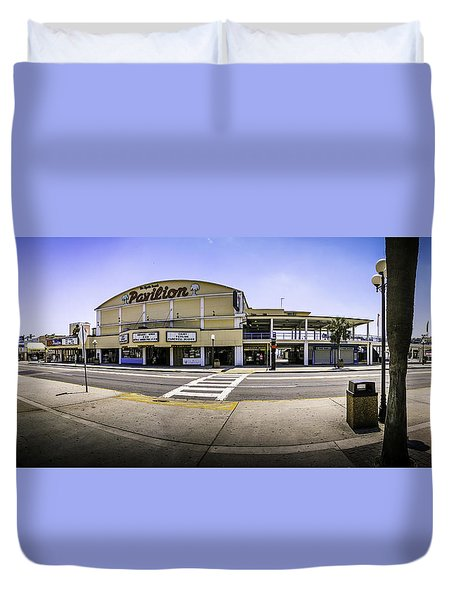 The Old Myrtle Beach Pavilion Duvet Cover by David Smith