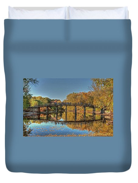 Duvet Cover featuring the photograph The Old North Bridge by Wayne Marshall Chase