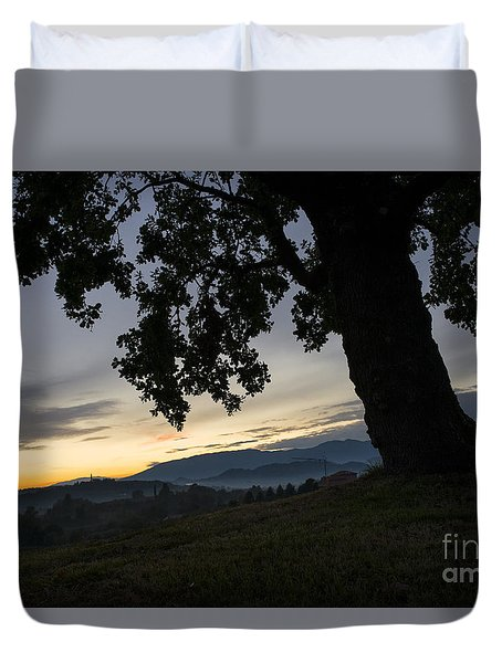 Duvet Cover featuring the photograph The Old Oak by Yuri Santin