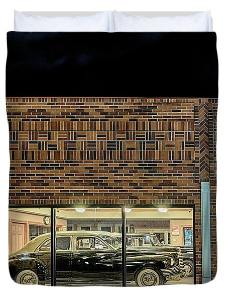 The Old Packard Dealership Duvet Cover