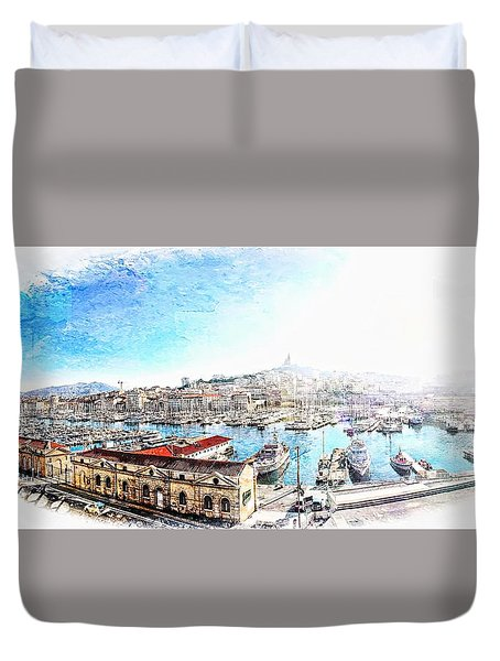 The Old Port Of Marseille  2 Duvet Cover