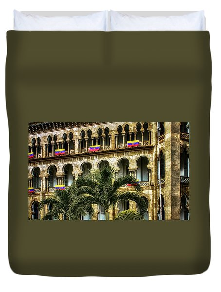 The Old Railway Station Duvet Cover