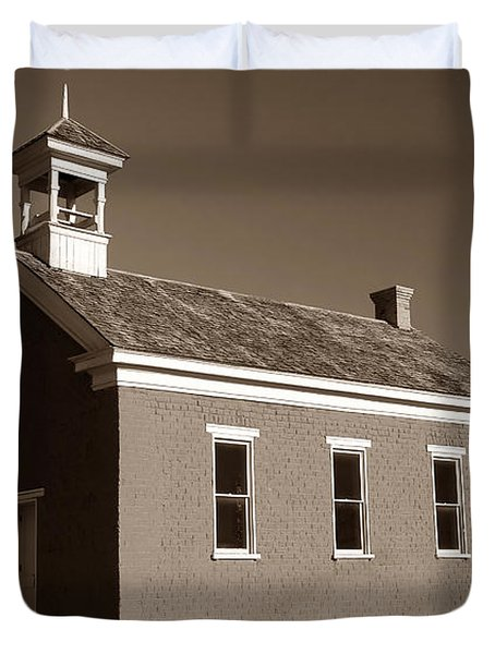 The Old Schoolhouse Duvet Cover by David Lee Thompson