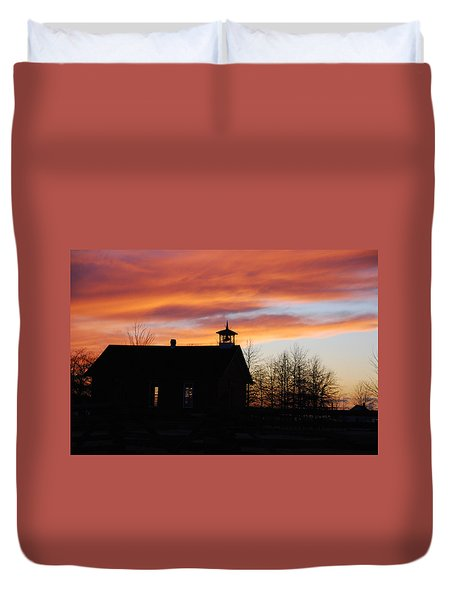 The Old Schoolhouse Duvet Cover