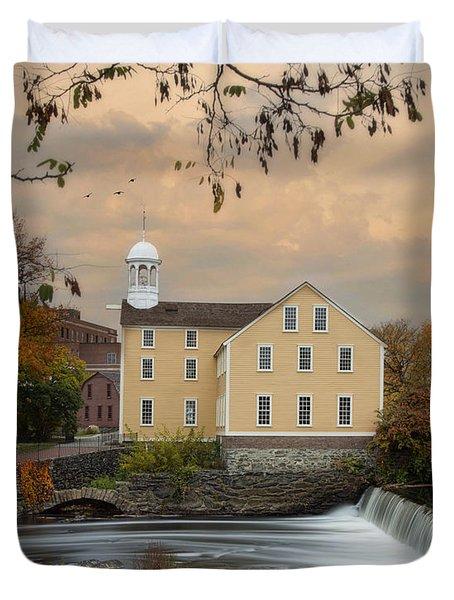 The Old Slater Mill Duvet Cover