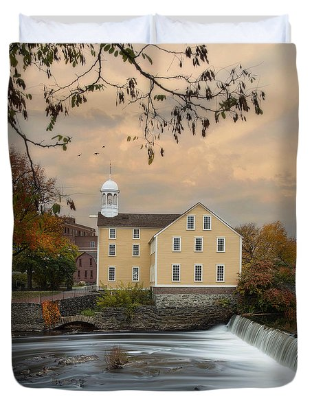 The Old Slater Mill Duvet Cover