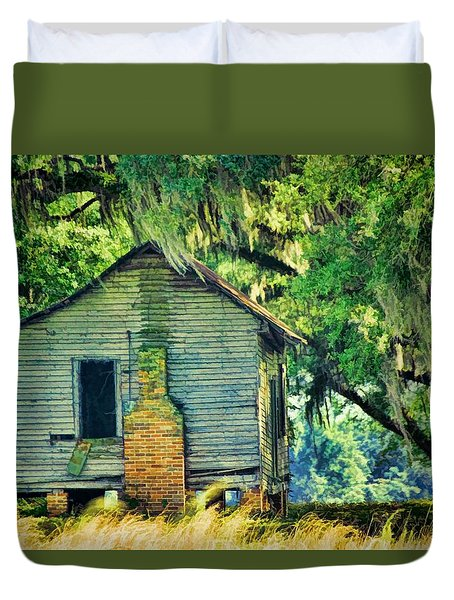Duvet Cover featuring the photograph The Old Slaves Quarters by Jan Amiss Photography