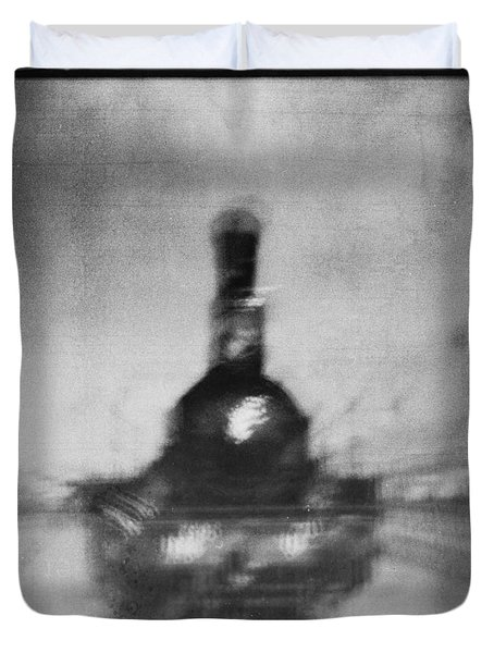 Duvet Cover featuring the photograph The Old Steam Locomotive  #5 by Andrey  Godyaykin