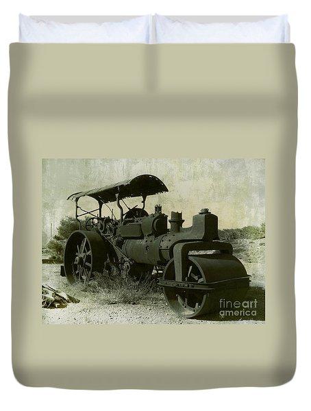 The Old Steam Roller Duvet Cover by Christo Christov