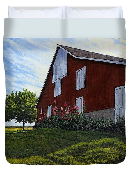 The Old Stucco Barn Duvet Cover