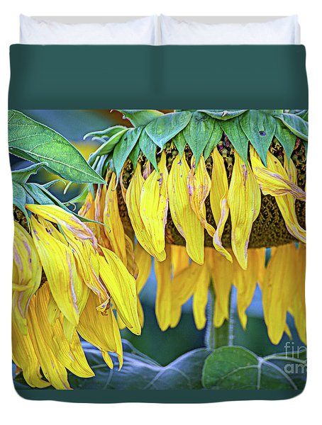 The Old Sunflowers Duvet Cover