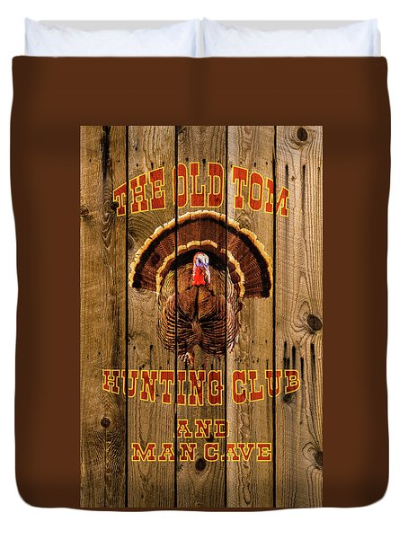 The Old Tom Hunting Club Duvet Cover by TL Mair