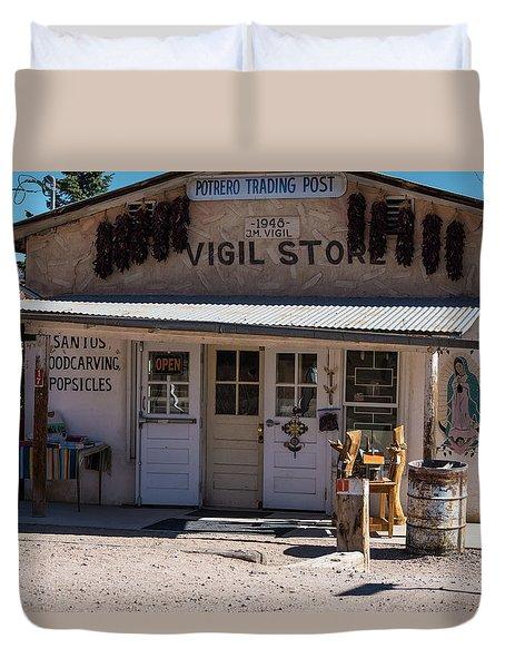Old Vigil Store In Chimayo Duvet Cover
