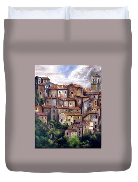 The Old Village Duvet Cover