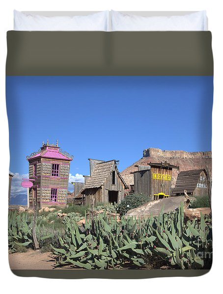 The Old Western Town  Duvet Cover