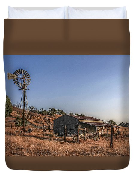 The Old Windmill Duvet Cover