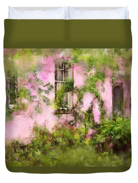 The Olde Pink House In Savannah Georgia Duvet Cover