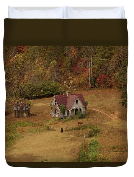 The Oldest House In North Carolina Duvet Cover