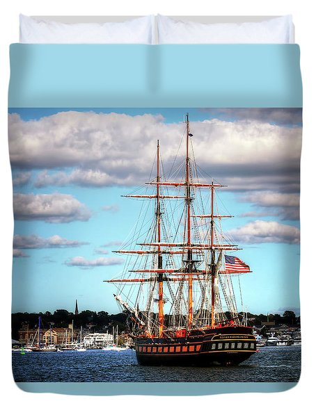 Tall Ship The Oliver Hazard Perry Duvet Cover