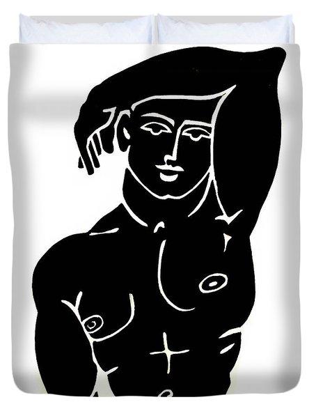The Olympic Swimmer - Erod Art Duvet Cover