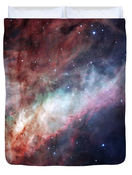Duvet Cover featuring the photograph The Omega Nebula by Eso