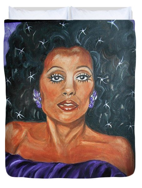 The One And Only Diana Ross Duvet Cover
