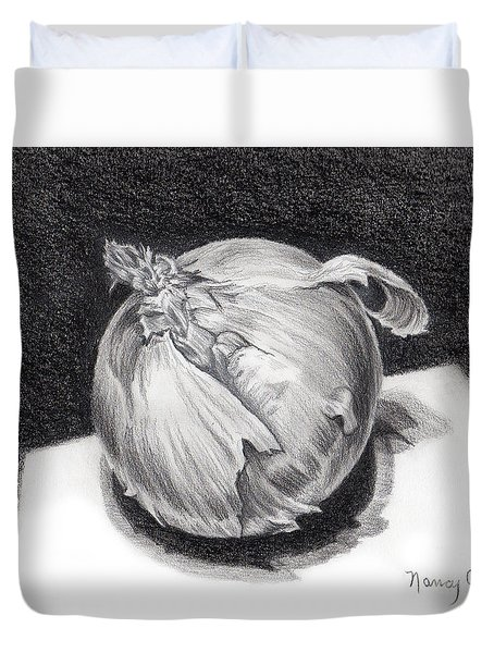 The Onion Duvet Cover by Nancy Cupp