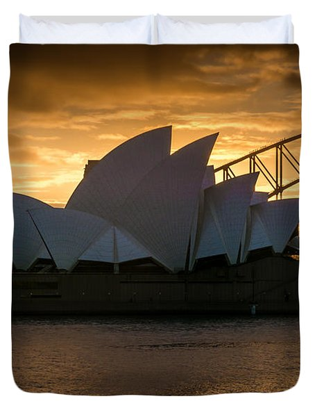 The Opera House Duvet Cover by Andrew Matwijec