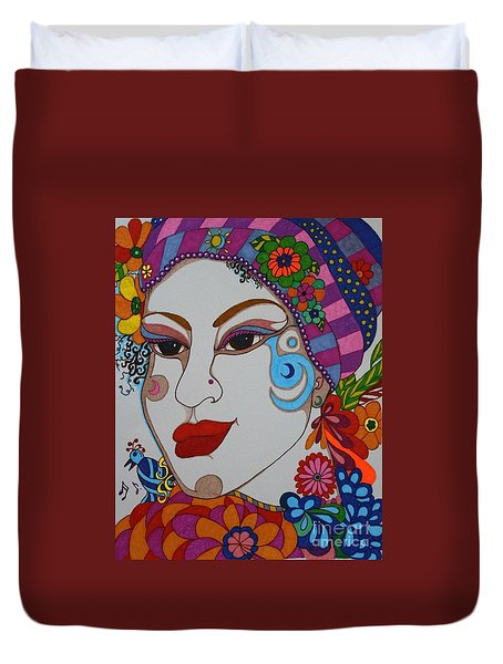 The Opera Singer Duvet Cover by Alison Caltrider