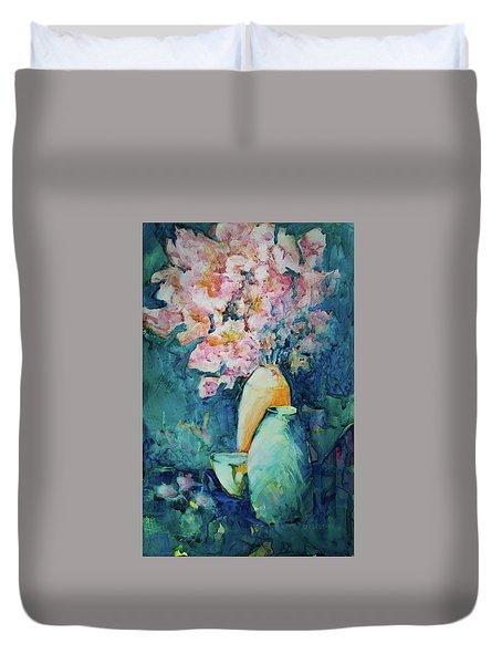 The Orange Vase Duvet Cover
