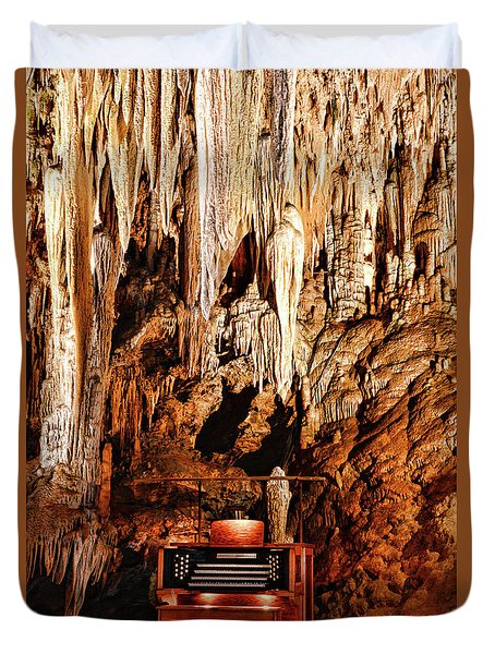 The Organ In The Cavern Duvet Cover by Paul Ward