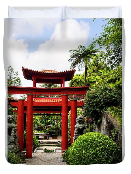 The Oriental Gate To Happiness Duvet Cover