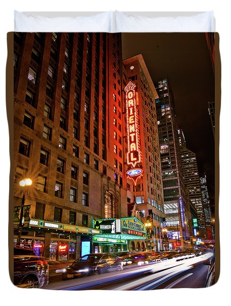 The Oriental Theater Chicago Duvet Cover