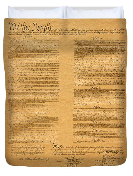 The Original United States Constitution Duvet Cover