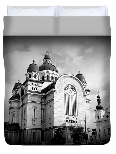 The Orthodox Cathedral And The Saint John The Baptist Church Duvet Cover