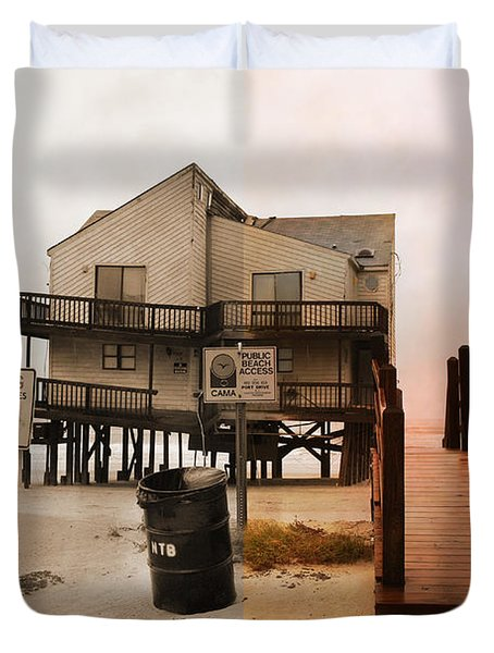 The Osprey And The Pelican Duvet Cover
