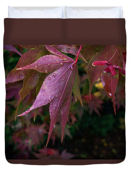 The Other Side Of Maple Duvet Cover by Ken Stanback