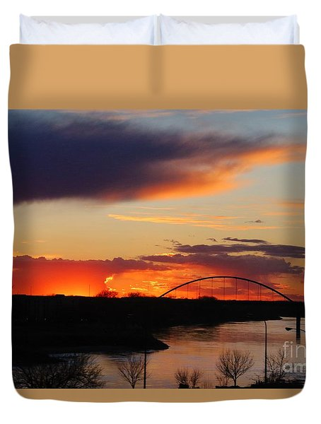 The Other Side Of The Bridge  Duvet Cover by Yumi Johnson