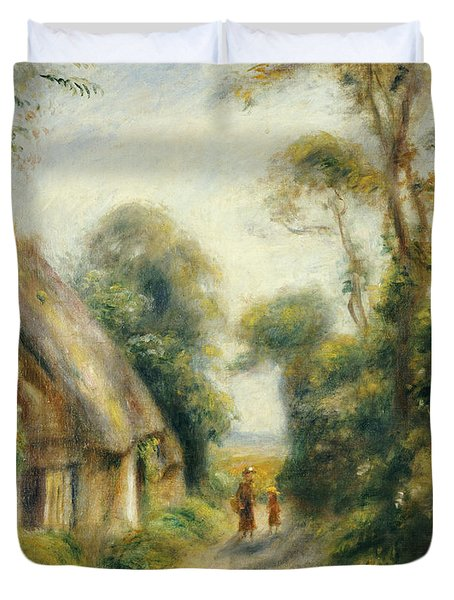 The Outskirts Of Berneval  Duvet Cover by Pierre Auguste Renoir