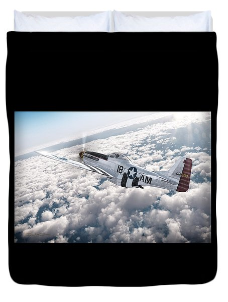The P-51 Mustang Duvet Cover by David Collins