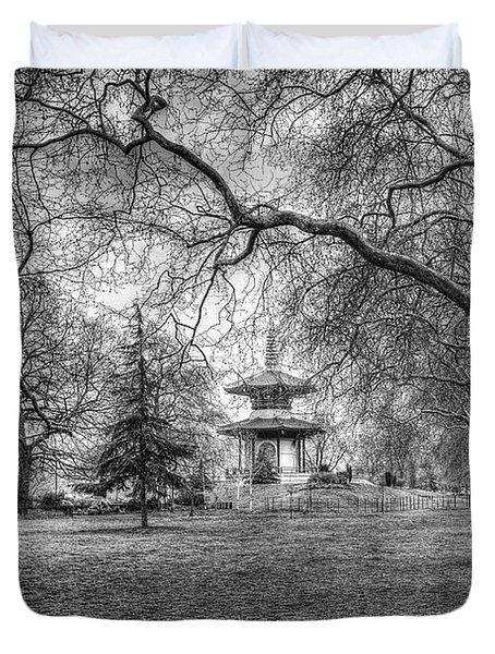 The Pagoda Battersea Park London Duvet Cover