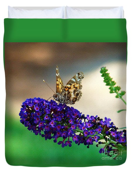 The Painted Lady Duvet Cover
